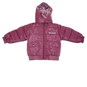 Mikka lány téli kabát padlizsán 116