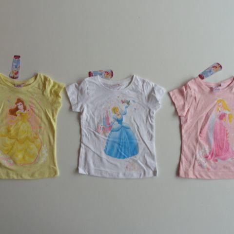 Lány r.u.póló Hercegnős 3 szín, 3 minta