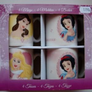 Disney 4 db-bögre Hercegnő