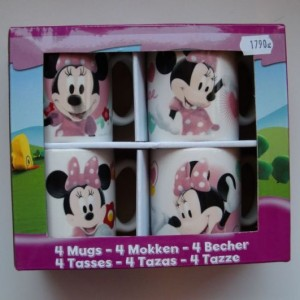 Disney 4 db-bögre Minnie