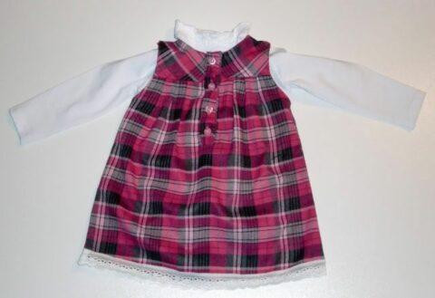 Lány 2 részes ruha kockás68-98