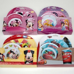 Disney mintás 3 részes étkészlet műanyag