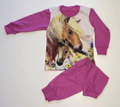 Lány 2 r. lovas pizsama 92-98 – GYERMEKRUHASHOP 772ae12092