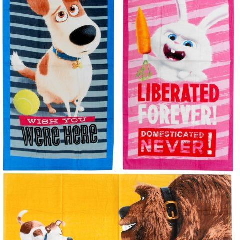 secret-life-of-pets-beach-towel