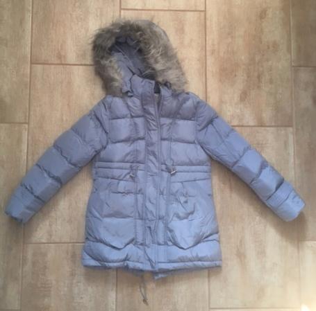 Lány téli kabát halvány kék 158-170 – GYERMEKRUHASHOP 3e8333323d