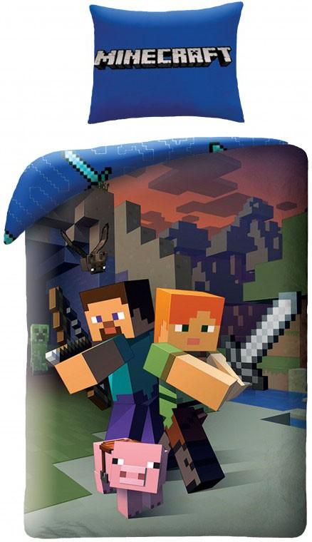 Minecraft ágynemű huzat – GYERMEKRUHASHOP