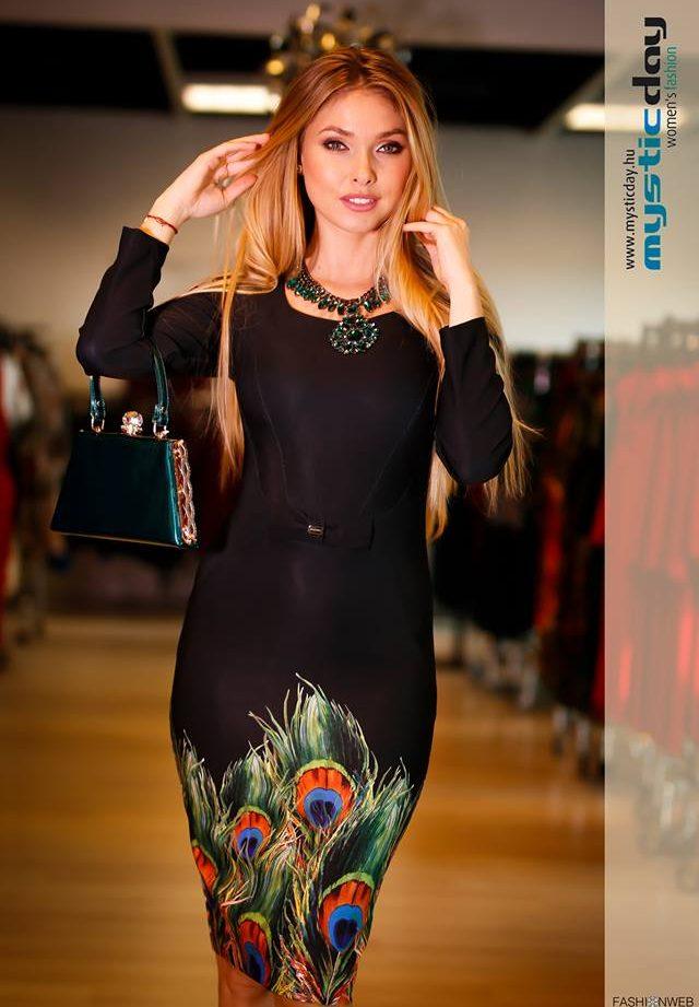 4445a2dadb Mystic day női ruha tollasM – GYERMEKRUHASHOP